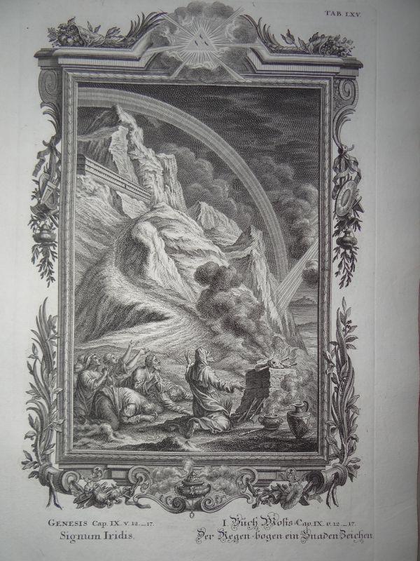 regenbogen arche noah buch moses scheuchzer bibel physica sacra kupferstich 1731 ebay. Black Bedroom Furniture Sets. Home Design Ideas