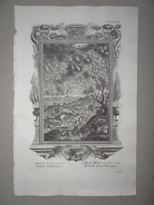 sodom schwefelregen buch moses scheuchzer bibel physica sacra kupferstich 1731 ebay. Black Bedroom Furniture Sets. Home Design Ideas