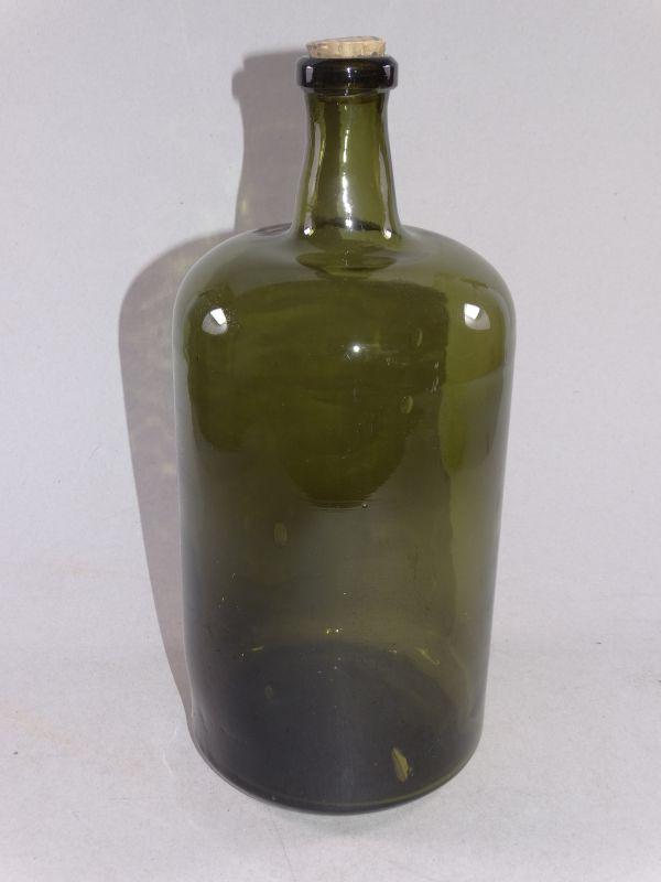 Große Apothekerflasche aus Grünglas - Flasche dickwandig 37 cm Deko - 1920
