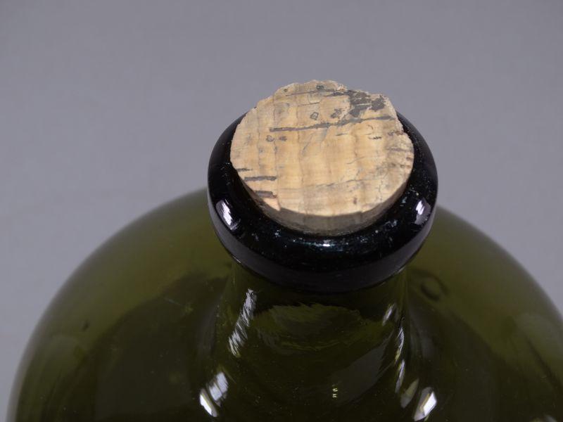Große Apothekerflasche aus Grünglas - Flasche dickwandig 37 cm Deko - 1920 2